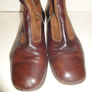 Vintage Brown Leather Ankle Boots